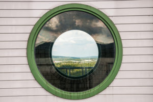 Round Window at Granetalsperre (Grane Dam), Harz, Germany
