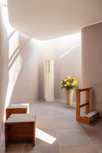 Europe, Germany, North Rhine-Westphalia, Bielefeld. The sanctum in the modern small annex of the church Saint Jodokus (former Franciscan cloister, 15. Cent.).