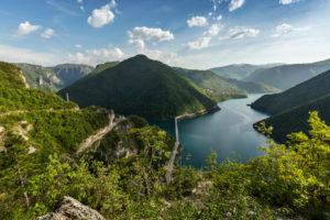 Europe, Montenegro, Plužine Municipality, Plužine, Lake Piva
