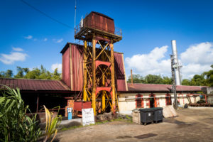 Habitation la Favorite, rum distillery, distillation with steam engine same as 100 years ago