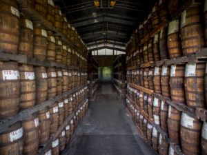 Saint James, rum warehouse, rum maturing in the barrels