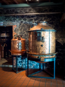 Saint James, rum museum, copper boiler,