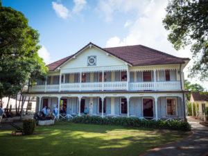 Saint James, ehemaliges Wohnhaus das jetzt zum Empfang der Gäste und Kunden dient