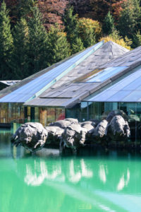 Fuschl am See, Red Bull Headquarters in Salzkammergut area, Salzburg, Austria