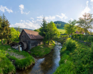 Kirchberg am Wechsel, water mill at brook Molzbach in the Vienna Alps, Lower Austria, Austria