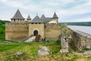 Khotyn, castle Khotyn Fortress, Dniester River in Chernivtsi Oblast, Ukraine