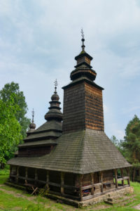 Kiev (Kyiv), Museum of Folk Architecture and Folkways of Ukraine in Pyrohiv, wooden church in Kyiv, Ukraine