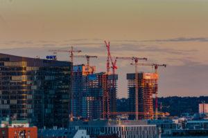 Wien / Vienna, Triiiple Tower in construction in 11. Simmering, Vienna, Austria