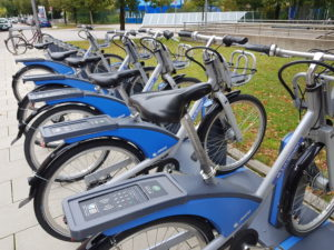 Rental bikes from the Munich public transport company