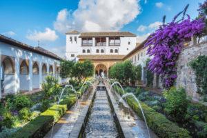 Spain, Andalucia, Granada City, The Alhambra, UNESCO World Heritage, Generalife Gardens