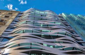 Barcelona City, modern building, Paseig de Gracia Avenue, Spain