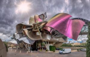 El Ciego City, Frank Gehry architect, La Rioja Area, Logroño province, Marques de Riscal Hotel, Spain, wine cellar