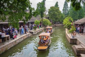 China, Shanghai, Zhujiajiaozhen City, canal