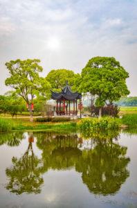 China, Shanghai, Zhujiajiaozhen City, garden