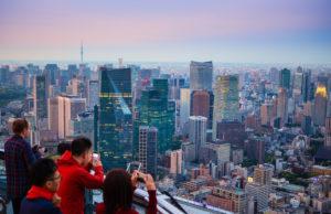 Japan, Tokyo City, Shimbashi and Marunouchi area, panorama