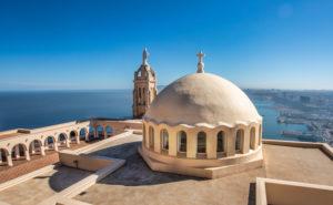 Argelia, Oran City, Church at Djebel Murjadjo Mountain, panorama