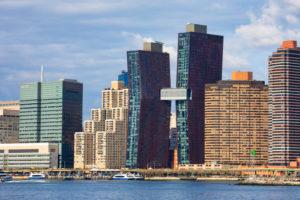 USA, New York City, Manhattan,, Midtown Skyline, United Nations Bldg.
