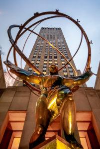 USA, New York City, Manhattan,, Rockefellar Center, The Titan