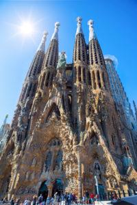 Spain, Catalonia, Barcelona City, Gaudi's Sagrada Familia Basilica