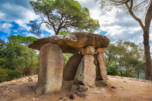 Spain, Catalonia, Barcelona Province, Dolmen of Pedra Gentil, Vallgorguina City