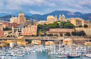 Italy, Genova City Skyline,