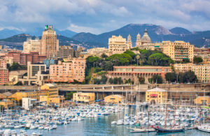 Italy, Genova City Skyline,