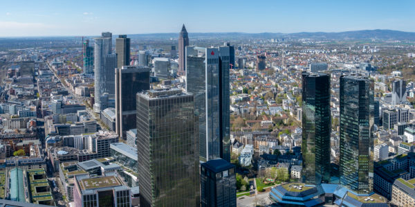 Germany, Hesse, Frankfurt, view from the Main Tower to the northwest.