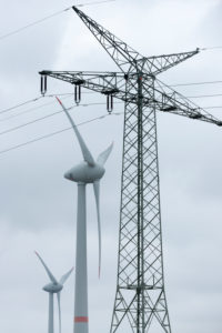 Germany, Lower Saxony, East Friesland, wind power plants close to Emden,