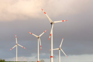 Germany, East Friesland, wind power station close Emden,