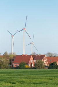Germany, Lower Saxony, East Friesland, wind power station close Emden,