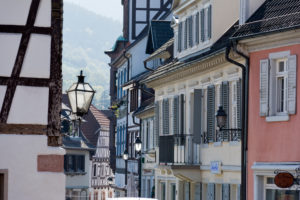 Germany, Baden-Wurttemberg, Gernsbach in the Black Forest, facades in the Old Town