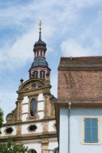Speyer, die Dreifaltigkeitskirche, nach dem großen Stadtbrand von 1689 wurde die Dreifaltigkeitskirche zwischen 1701 und 1717 errichtet.