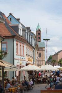 Speyer, die Korngasse in der Altstadt