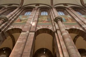 Speyer, der Kaiserdom, UNESCO-Weltkulturerbe, Johannes Schraudolph Gemälde im Mittelschiff