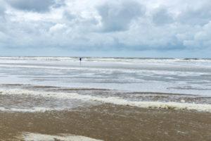 Germany, Lower Saxony, East Frisia, Juist, beach walk in stormy weather.