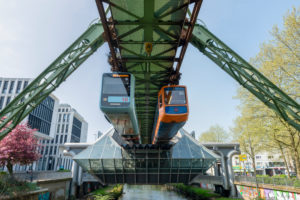 Germany, North Rhine-Westphalia, Wuppertal, the suspension railway was opened on 1 March 1901, station Ohligsmill,