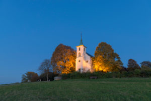Deutschland, Baden-Württemberg, Kraichgau, Bruchsal-Untergrombach, Michaelskapelle, barocke Wallfahrtskirche auf dem Michaelsberg, Westrand des Kraichgauer Hügellandes,