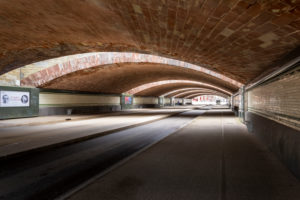 France, Lorraine, Metz, street underpass at the station.