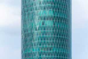 Deutschland, Hessen, Frankfurt, der Westhafen Tower ist ein Hochhaus im Gutleutviertel.