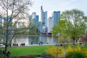 Deutschland, Hessen, Frankfurt, Frankfurter Skyline