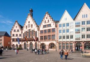 Deutschland, Hessen, Frankfurt, Der Römer ist seit dem 15. Jahrhundert das Rathaus der Stadt Frankfurt am Main.