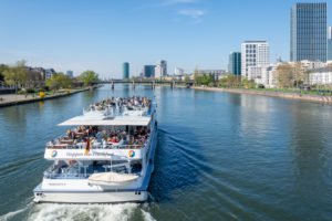 Germany, Hesse, Frankfurt, excursion boat on the Main.