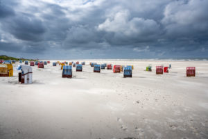 Germany, Lower Saxony, East Frisia, Juist, beach chairs