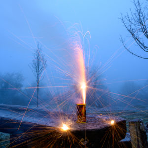 Germany, fireworks at the turn of the year.