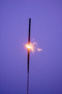 Burning sparkler.