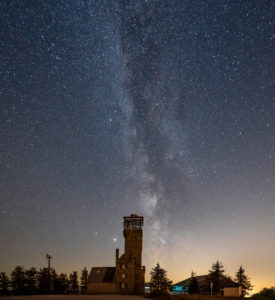 Germany, Baden-Wuerttemberg, Black Forest, Hornisgrinde, the Milky Way over the Hornisgrindeturm.