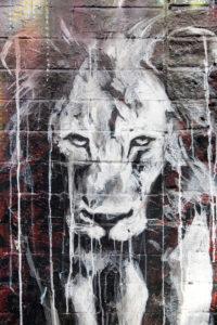 Straßenkunst, East End, London, Großbritannien