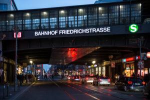 Railway station Friedrichstraße, Mitte, Berlin