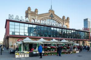 Halo Mirowska, Mirow Hallen, Historische Markthalle, Warschau, Polen
