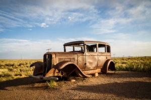 Oldtimer, Painted Desert, Historic Route 66, Arizona, USA